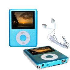 Slim Portable 1.8 LCD Mp3 / Mp4 Player With 16GB Micro SD Card And USB 2.0 Cable (Blue)