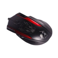 Smart Mouse AUW Left Roller Top Wired Gaming Optical Mouse - X9 - Hitam-Merah