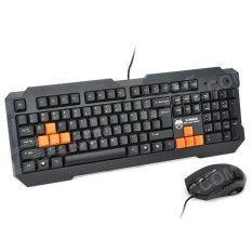 Smart PS / 2 Wired 104 Key Gaming Keyboard dan Wired USB Mouse Set - Hitam