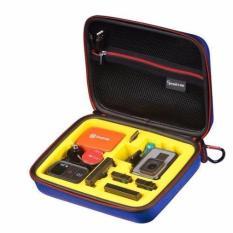 """Smatree SmaCase G160s Wadah Bawaan Kecil Dengan Potongan Busa EVA Untuk Gopro Hero 5/4 / 3 + / 3/2 / 1 Biru Dan Kuning (8.6"""" X6.7"""" X2.7"""") (TIDAK Termasuk Kamera Dan Aksesoris)"""