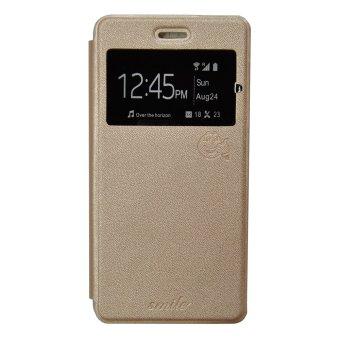 Smile Flip Cover Case Samsung Galaxy S7 edge - Gold