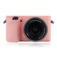Soft Silicone Rubber Camera Case For Sony A6000 ILCE-6000L ILCE-6000 (Pink)