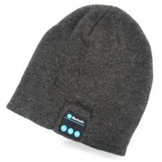 Soft Warm Beanie Hat Wireless Bluetooth Smart Cap Headphone Noise Reduction Headset Speaker With Mic For Outdoor Sport Music (Dark Grey)