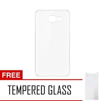 Softcase Samsung Galaxy J7 Prime Ultrathin Aircase- Putih +Tempered Glass Glass