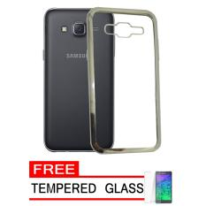 Softcase Silicon Jelly Case List Shining Chrome for Samsung Galaxy J3 2015 (J300) -