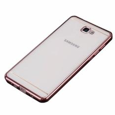 Softcase Silicon Jelly Case List Shining Chrome for Samsung Galaxy J5 Prime - Rose Gold