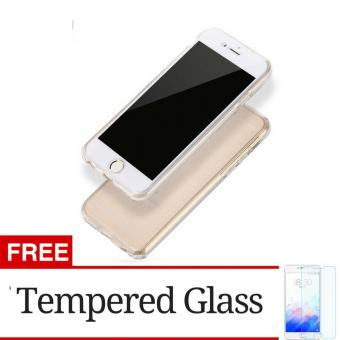 Softcase Ultrathin 360 Fully TPU with Glass For iPhone 7 / 7s + Gratis Tempered Glass