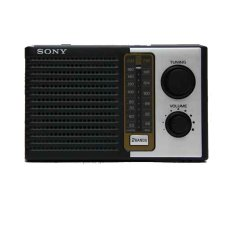 Sony ICF-F10 Radio AM FM Portable - Hitam