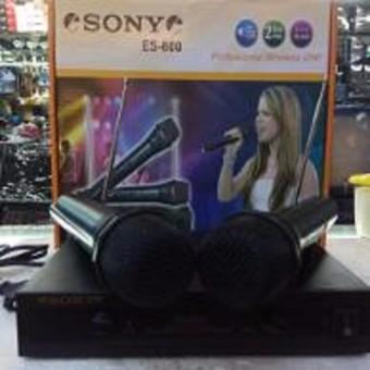 Sony Microphone Mic wireless Double ES 800 ( Handheld ) Suara Mantap