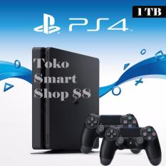 Sony New PlayStation 4 Slim Console 1TB Plus 2 Controller Garansi Sony