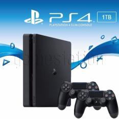 Sony New PlayStation 4 Slim Console 1TB Plus Controller Garansi Sony (Black)