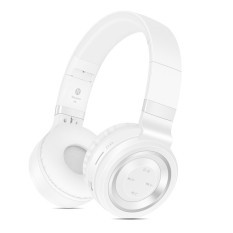 Sound Intone P6 Wireless Headsets Bluetooth 4.0 Headphones With Microphone Support TF Card FM Radio For MP3 Cellphones (White Silver)