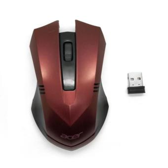 SP ACER 2.4GHz Wireless Optical Mouse 002 RED With USB 2.0 Receiver for PC Laptop