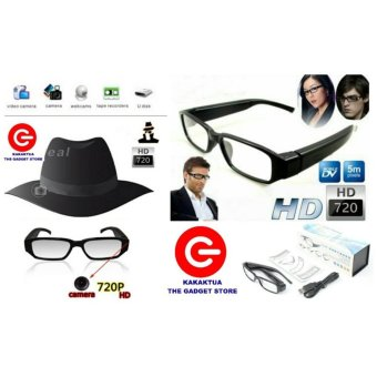 Spy Tec Kamera Pengintai Kacamata - Lensa Bening - Cam Eye Wear -Glasses Hidden Camera