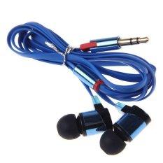 Stereo 3.5mm In Ear Headphone Earphone Headset Earbud For IPhone Smart Phone Blue