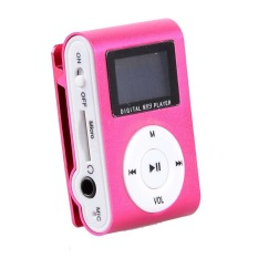 Supercart Mini Clip Mp3 Player Portable Digital Music Player with Screen (Red) (Intl)
