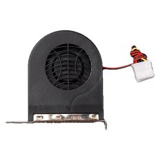 Supercart Replace System Blower CPU Case PCI Slot Fan Cooler Cooling For PC MAC VGA DC 12V (Black) (Intl)