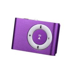Superior Mini USB Clip MP3 Player Music Player (Purple)