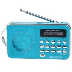 T-205 Portable HiFi Card Speaker Digital Multimedia Loudspeaker FM Radio -White (BLUE)