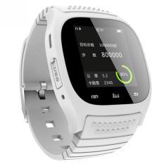 Tahan air Bluetooth cerdas perhiasan jam pintar dengan memimpin Alitmeter pemutar musik alat pengukur langkah untuk smartphone ponsel (putih)