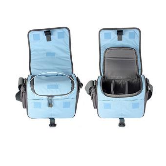 Tas kamera belakang untuk kasus single Nikon Canon Sony Panasonic SLR DSLR kamera (Abu-