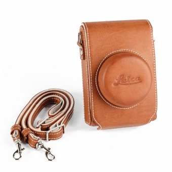 Higher Quality Camera Case Bag For Leica D-LUX Typ 109 D-lux With Shoulder Strap (Brown)