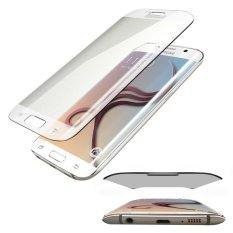 Tempered Glass Full Cover Curve Melengkung Untuk Samsung Galaxy S6 EDGE Anti Gores Kaca Melengkung / Screen Guard - Clear