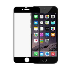 Tempered Glass iPhone 6G/6S/4.7 inchi Full Black Anti Gores Kaca / Screen Protector / Screen Guard / Pelindung Layar - Clear (Depan Saja)