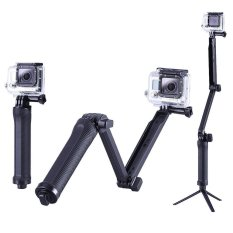 Three-way Monopod Stand Mini Tripod Extension Arm For Gopro Hero 1 2 3 3.4 Camera (Black)