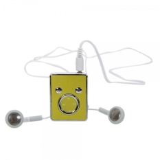 TM08 Cute Panda Face Clip TF Card MP3 Player Golden
