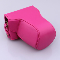 Top PU Leather Camera Case Bag Cover With Shoulder Strap For CanonEOS-M / EOS-M2 Rose (Camera Not Included)