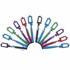 Yangunik Paket 12 buah Tongsis Kabel Monopod Panjang Selfie Stick Multicolor .