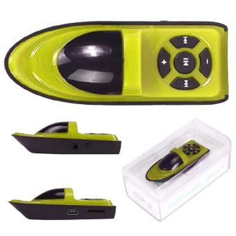 Twin Mp3 Mini Player Ship Style + Free Mp3 Ship - Yellow