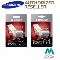 Samsung Memory Card Microsdhc Evo Plus 64gb 80mbs With Adapter Merah Source · Twin Pack OSRE
