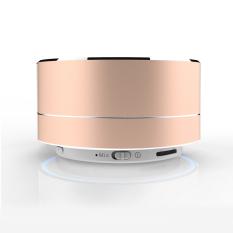 Ubit A10 Metal Bluetooth Portable Mini Wireless Speaker FM Radio TF Card MP3 Player (Gold) - Intl