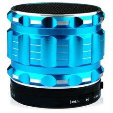 Ubit Portable Mini Bluetooth Speakers Metal Steel Wireless Smart Hands Free Speaker With FM Radio S28 Blue