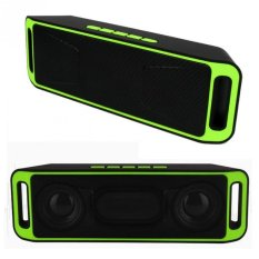 Ubit Portable Wireless Speaker Bluetooth 4.0 Stereo Subwoofer Dual Speaker SC208 Green