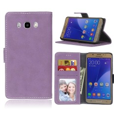 Ueokeird Protective Stand Wallet Purse Credit Card ID Holders Magnetic Flip Folio TPU Soft Bumper Leather Case Cover for Samsung Galaxy J7 2016 / J710 - intl