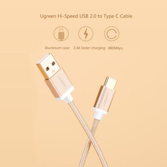 UGREEN 3 M USB Type C Sinkronisasi Data Dan Kabel Charger Kepang Kasus .