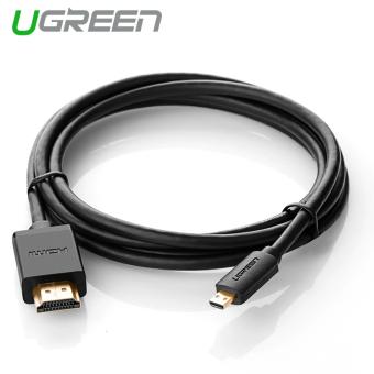 UGREEN Micro HDMI ke HDMI kabel dengan Ethernet berlapis emas mendukung 3D dan 4 KB resolusi