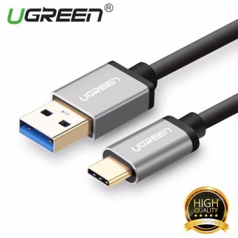 UGREEN USB 3.0 to Type C Data Sync Charging Cable with Aluminum Connector - Black,0.25m - intl