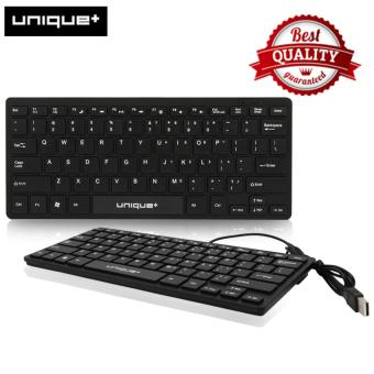 Unique Mini Keyboard K1000 - Keyboard Mini Kabel USB Hitam