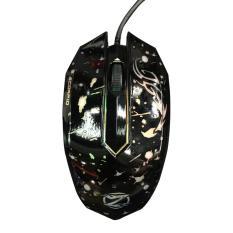 Unique Zornwee Mouse Kabel Model Gaming LED Lampu Untuk PC Laptop Komputer XG-68 Hitam