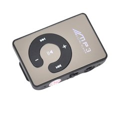 Universal C-Logo MP3 Player TF Card with Small Clip Silver - Hitam