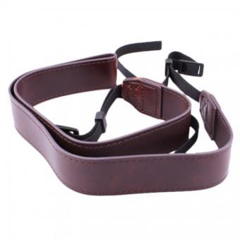 Universal Camera Shoulder Neck Strap Leather Belt For SLR DSLR Canon Coffee