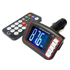 Universal MP4 Car FM Transmitters with LCD 1.8 Inch and Micro SD - Hitam