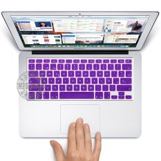 "US Type Spain Spanish Silicone Protective Keyboard Cover Skin Protection Sticker For 13.15.17"" Mac MacBook Air Pro Retina 13"" 15"" Inch / Imac G6 (Purple)"