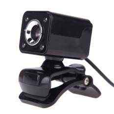 USB 2.0 12 Megapixel HD Camera Web Cam with MIC Clip-on Night Vision 360 Degree For Desktop Skype Computer PC Laptop Pure Black