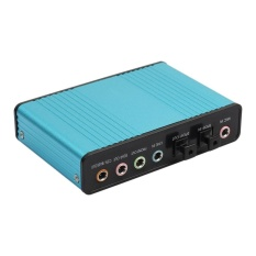USB 6 Channel 5.1 External Optical Audio Sound Card for Notebook PC(Blue) - intl