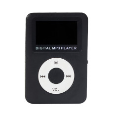 USB Digital MP3 Player LCD Screen Support 32GB Micro SD TF Card Black